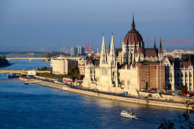 Danube river and Hungarian Parliament