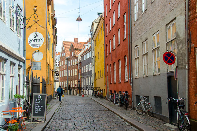 Typical street in Central Copenhagen