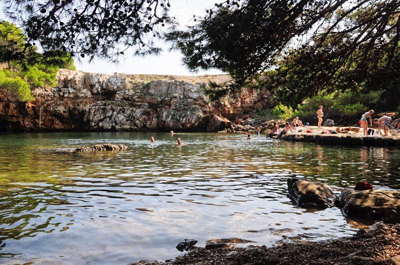 Swimming spot in Lokrum