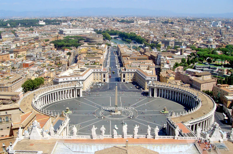 View from St Peters in Vatican City